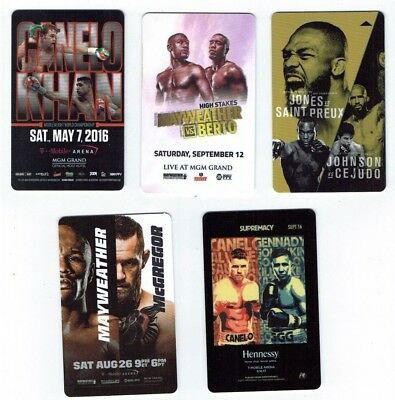 FIGHT Boxing UFC MGM GRAND Las Vegas Room KEYS LOT of 5 - Mayweather, CANELO, GG