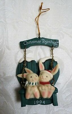1994 First Christmas - America Greetings Ornament - (Bunny Rabbits)
