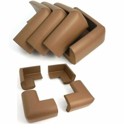 AKORD Baby Safety Corner Protectors For Desk Table, Nut Brown