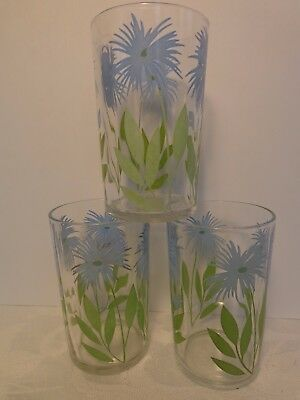 "KRAFT SWANKY SWIGS 3 Cornflower Posy #1 Light Blue Green Leaves 3.5"" Vintage '41"