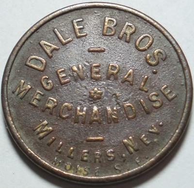 MILLER'S, NEVADA Long Gone GHOST TOWN Good For 12½¢ In Trade DALE BROTHERS Token