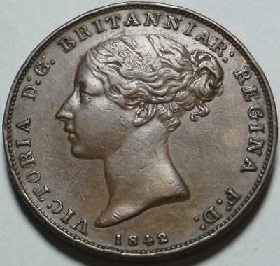 """1842 Over 1841 >Overdate< CROWN COLONY of GIBRALTAR """"Original & Nice"""" TWO QUARTS"""
