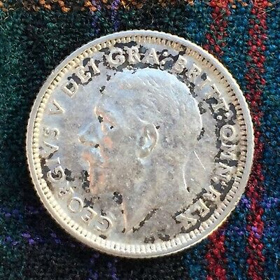 UK / Great Britain 6d Sixpence, Tanner 1927, George V - XF, Silver