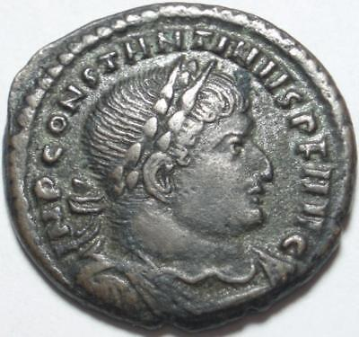 "306-337 AD ROME First CHRISTIAN EMPEROR Constantine ""THE GREAT"" Follis ROME MINT"