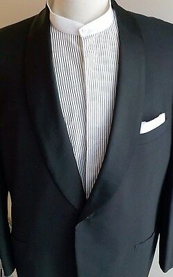 Vtg 60's Brooks Brothers 346 Shawl Collared Tuxedo Suit 45L 37W-30.5L EXCELLENT