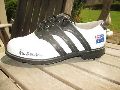 Peter Thomson Signed New Adidas Aust Logo Golf Shoe / With Photo Proof