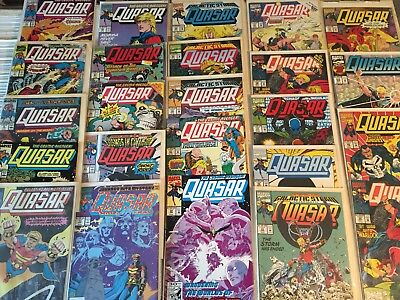 Lot of 24 QUASAR Comic Books by Marvel COPPER Age Readers and better see photo!