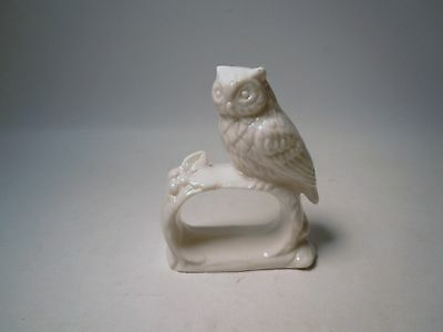 1 Vintage Ardalt Japan Made White Porcelain Owl Napkin Ring Holder