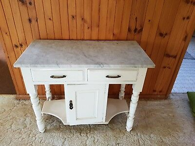 Marble Wash Stand with twisty legs