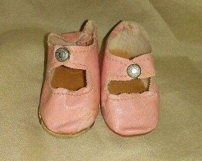Vintage Oilcloth Center Snap Pink Doll Shoes