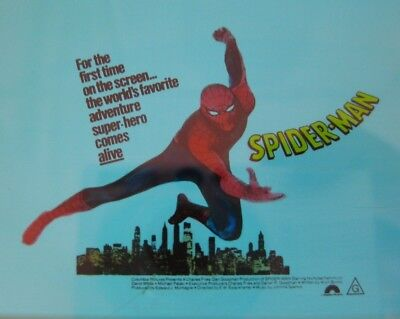 SPIDER-MAN 1977 Orig Australian cinema movie projector glass slide superhero