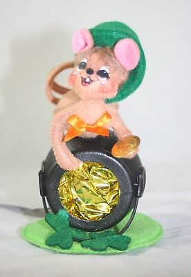 "Annalee St. Patrick's Day 5"" Pot of Gold Mouse NWT"
