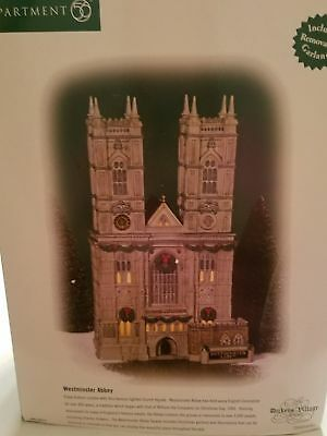"""Dept 56 Dickens Village """" WESTMINSTER ABBEY """"  BRAND NEW"""