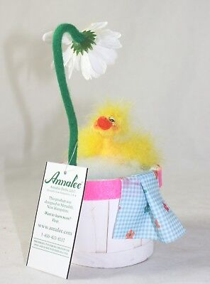 "Annalee Spring 6"" Spring Showers Duck NWT"