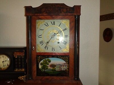 Antique Eli Terry and son Wood Works Clock