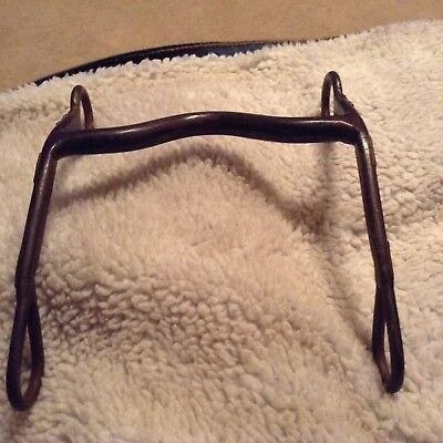 Nice Old Antique Low Port Grazin Horse Bit With Silver Plates