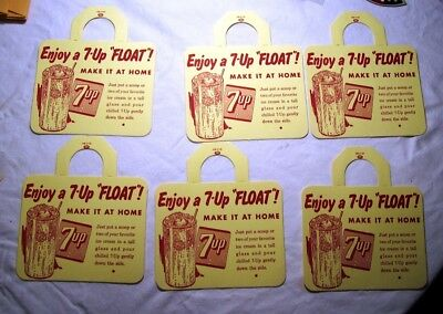 7-Up Float Bottle Toppers, 1953