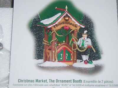"Dept 56 Alpine Village  Christmas Market "" The Ornament Booth "" Brand New Rare"
