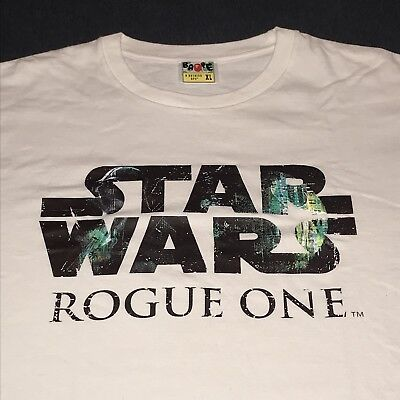 6ed657e8 Pre-owned Bape A Bathing Ape x Star Wars Rogue One T Shirt White XL