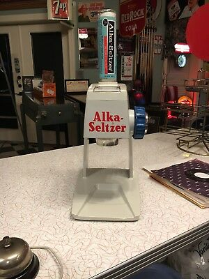 Alka-Seltzer Display Dispenser With Bottle And Cleaning Instruction Card