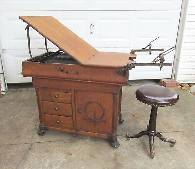 Antique Oak W.D. Allison Co., Gynecologist Examination Table Indianapolis, IN