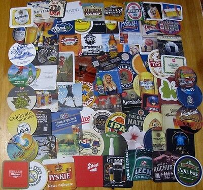 New! Lot 70+ X 4 = 300 World-Wide Beer Coasters! Majors & Micros! Imports/US!