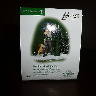 """Dept 56 Heritage Village Collection """"Bob Cratchit and Tiny Tim"""" 56.58537 Dickens"""