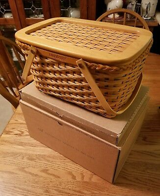 2000 Longaberger Founders Market Basket New with Lid MINT With ( Boxes ) signed