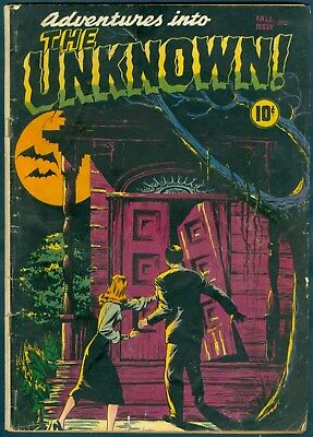 From 1948, Adventures Into the Unkown #1 in VG- (3.5)