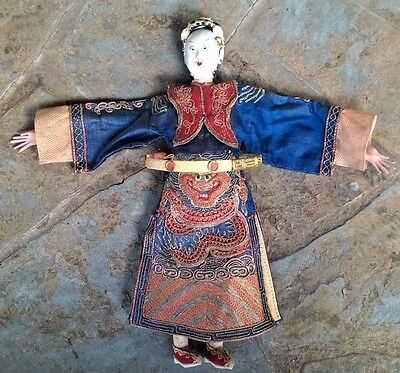 Antique 1800-1900s Rare Asian Opera Marionette Doll Handmade Signed