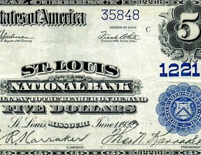 HGR SUNDAY 1902 $5 St Louis ((Beautiful Artwork)) AWESOME GRADE