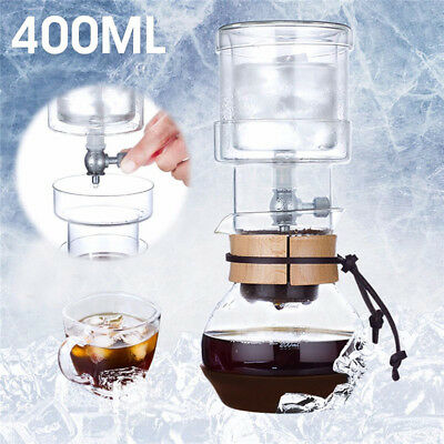 Elegant Dutch Cold Brew Water Ice Drip Coffee Maker Glass Pot For 2 Cups 400ml