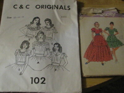 2888 Lot of 2 Square Dance Patterns, Size 16