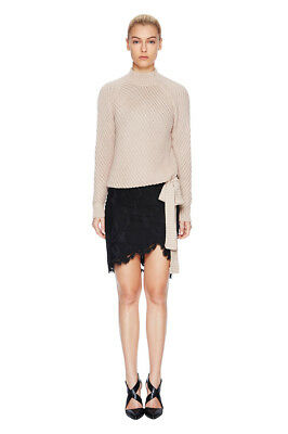 Lover the Label blush pink beige knit jumper tie Small 8 10 12