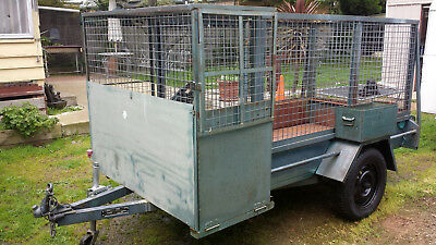 9 X 4 Caged/boxed Trailer Registered
