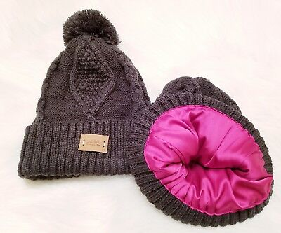 PERFECTLY ZEN SATIN LINED Knit Beanie Winter Ski Hat Cap -  19.99 ... 9c7c38060e4