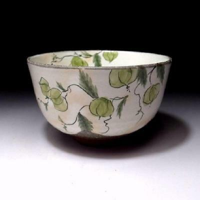 MG6: Japanese Tea Bowl, Kyo Ware by 1st class potter, Kaho Ito, Ground cherry