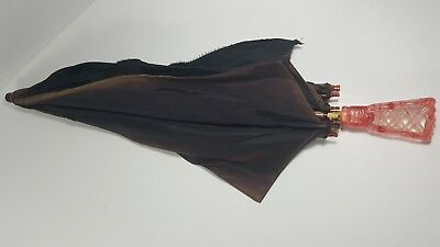 Bilt-Well Vintage Umbrella with Lucite Handle ~ Probably 40's-50's - torn canopy