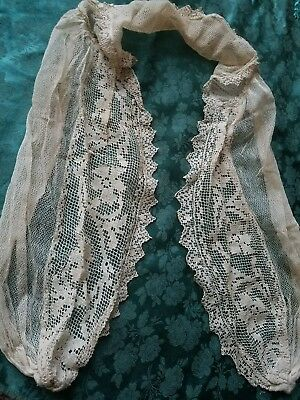TULLE NET lace antique Filet antique collar shall
