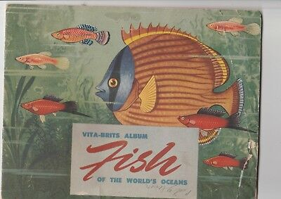 """VITA-BRITS 1950's """"FISH of the World"""" CARD ALBUM (with incomplete set of cards)"""