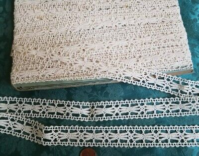Antique French Torchon  Bobbin lace trim insertion lot 11+ yards !!