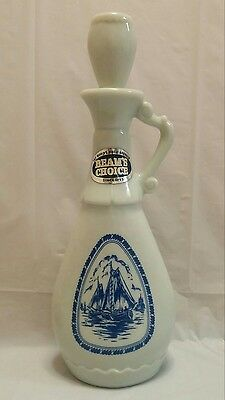 Vintage 1963 Delft Blue Jim Beam decanter with Windmill & Ships - Empty