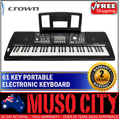 New Crown 61 Key Touch Sensitive Electronic Portable Keyboard
