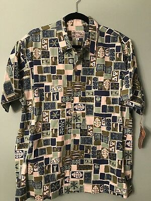Shag Toes On The Nose Skull Tiki Button Down Shirt- New Old Stock w/Tags! Size M