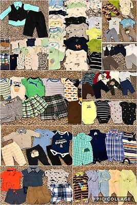 80 Piece Lot of Baby Boy Newborn and 0-3 months Clothes