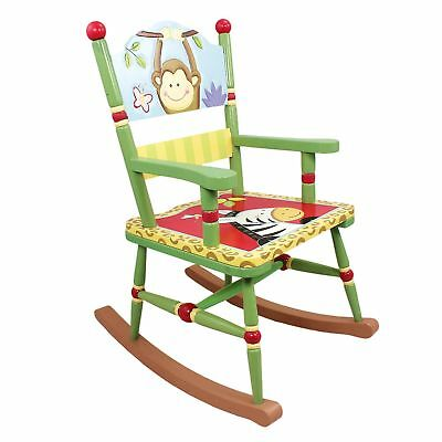 Fantasy Fields  Sunny Safari Animals Thematic Kids Wooden Rocking Crafted Chair