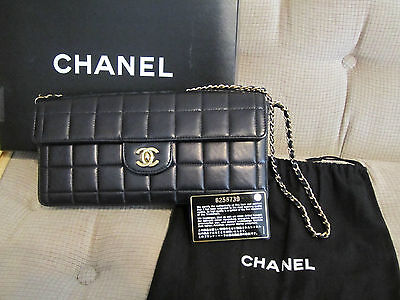 Chanel Black Lambskin Quilted Flap Bag in GHW
