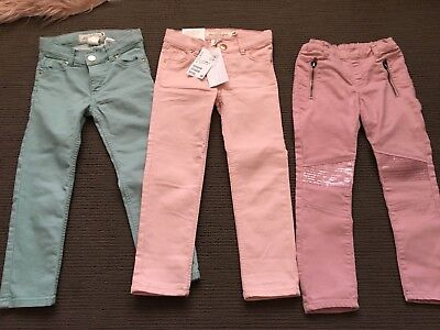 3 Pairs Of H & M Girls Jeans Size US 3-4 Or AU 4 Excellent Condition 1 Pair Bnwt