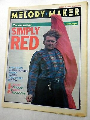MELODY MAKER Music Magazine 8/31/1985 SIMPLY RED Little STEVEN etc. MM#11 h