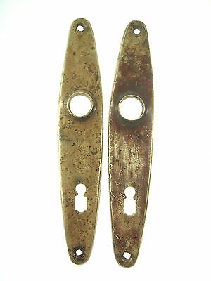 Old Vintage Antique Brass Escutcheon Door Lock Key Hole Cover Plate Nr 5271